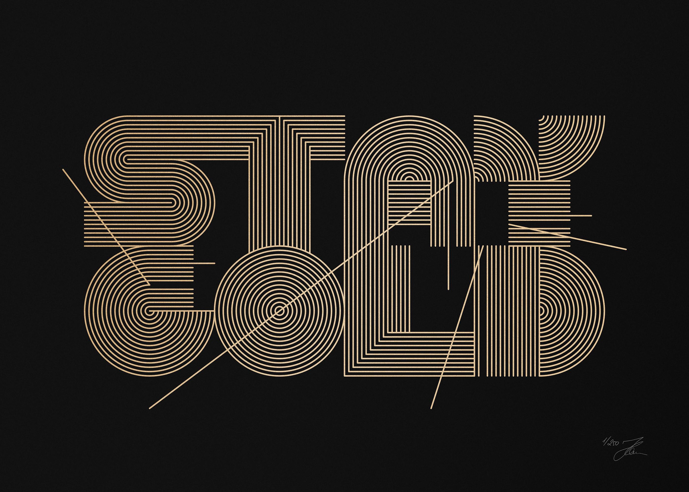 STAY GOLD (Gold/Black), Silkscreen Print