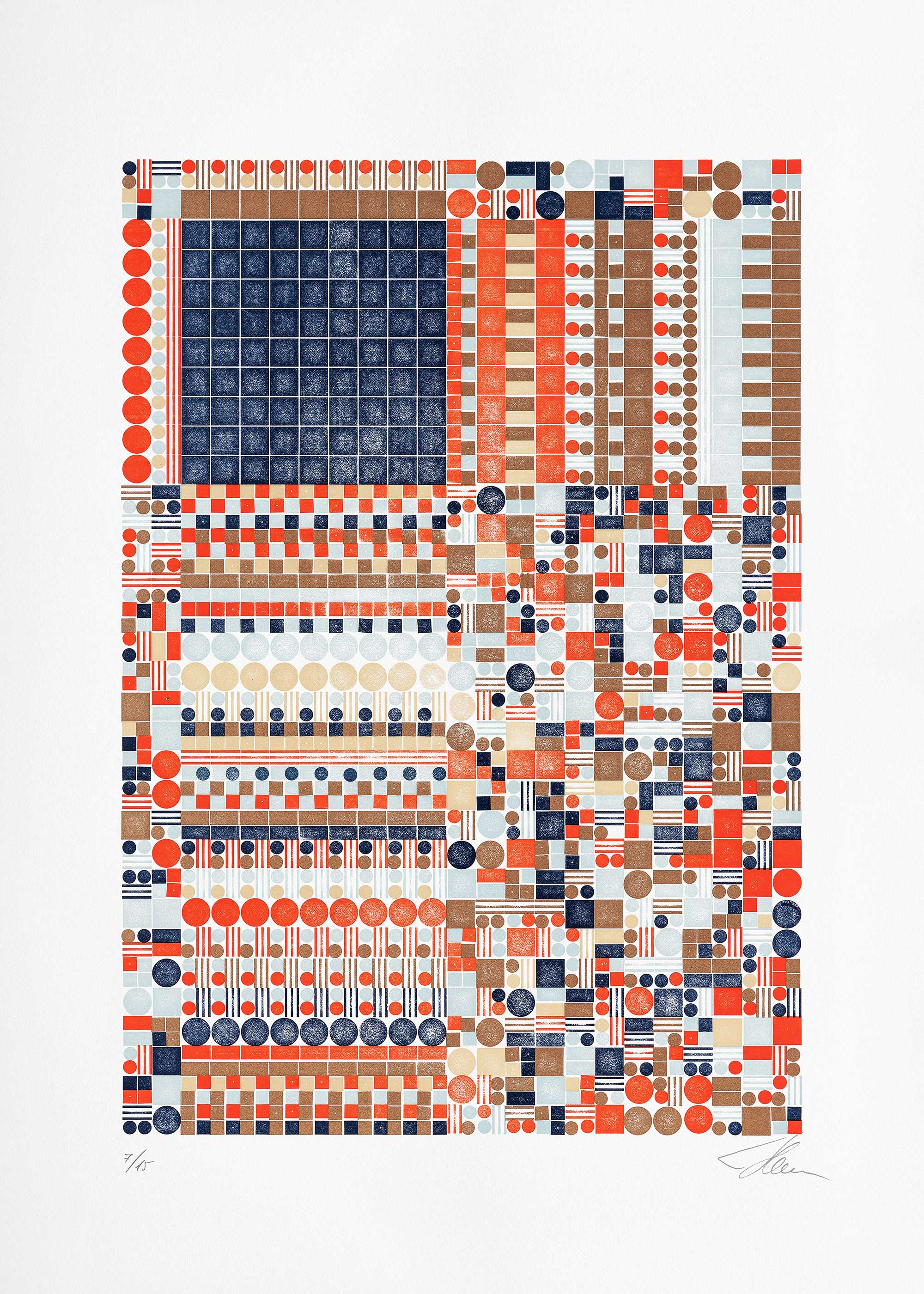 Glitch A.5c.2 (Ed. of 15), Letterpress Print