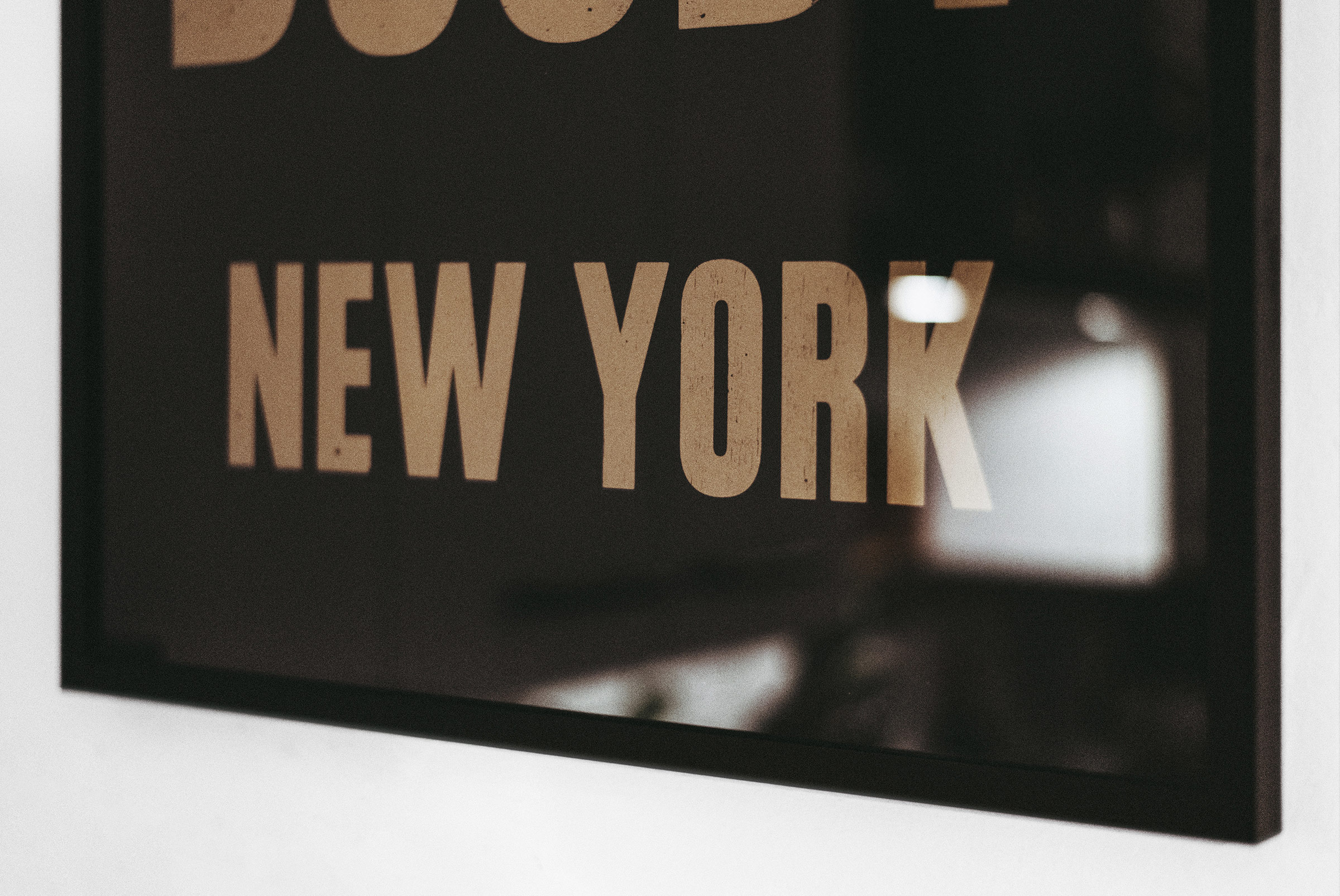 If in doubt.. NEW YORK (Gold/Black), Mood, Letterpress Print