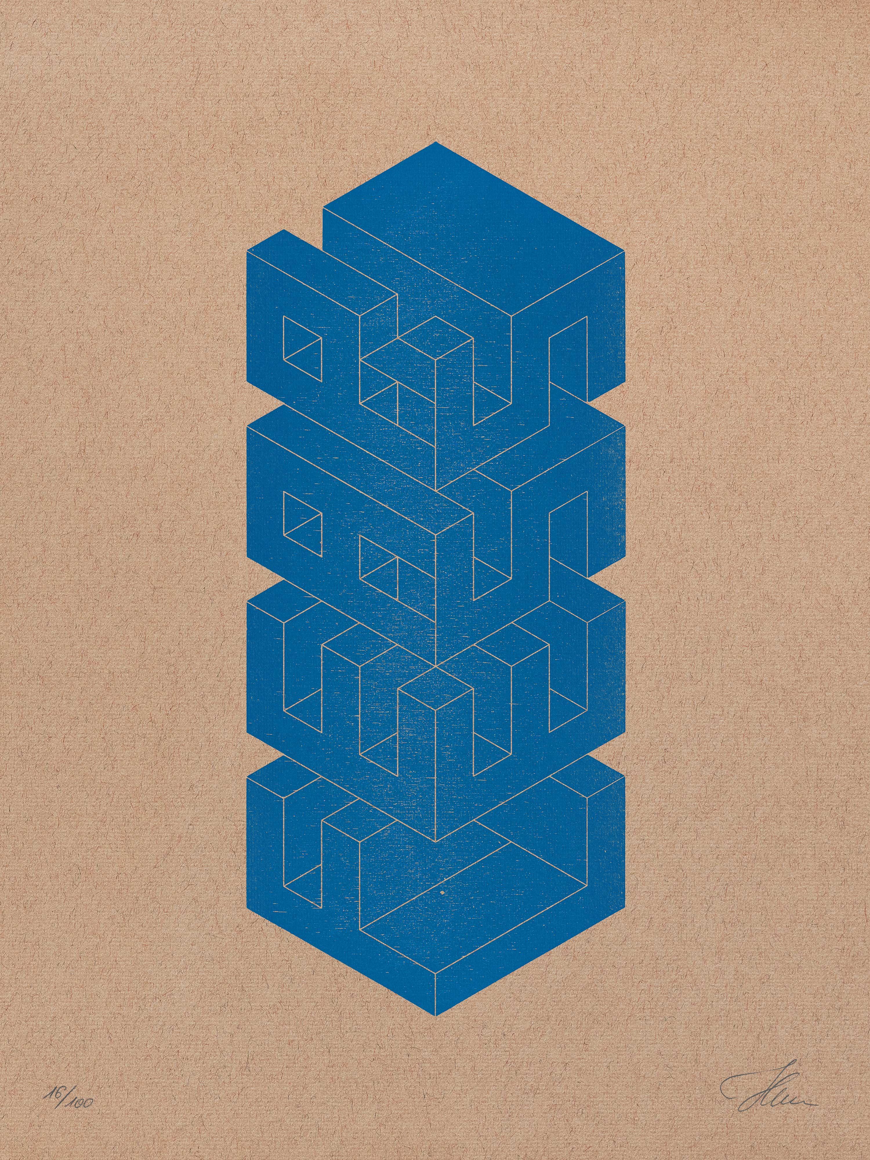 FEAR/LESS, Vertical/Architectural — Letterpress Print