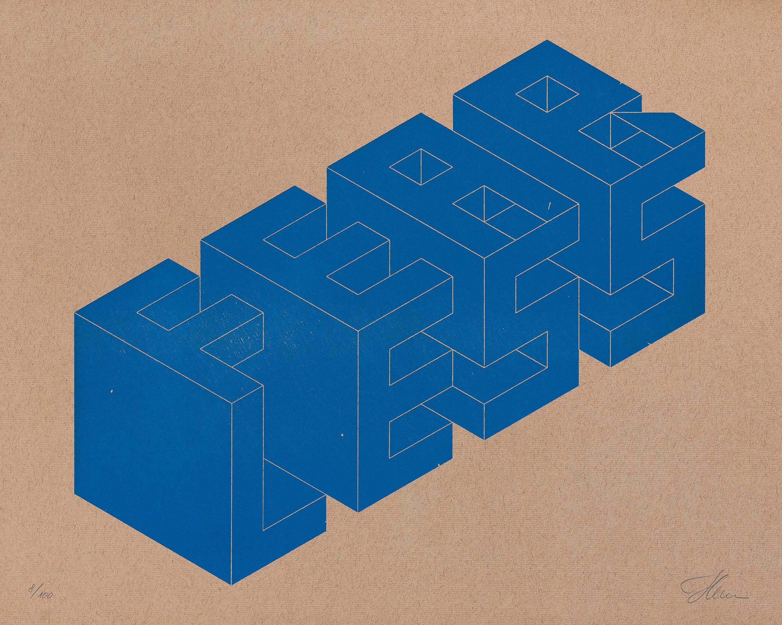 FEAR/LESS, Isometric Typography — Letterpress Print